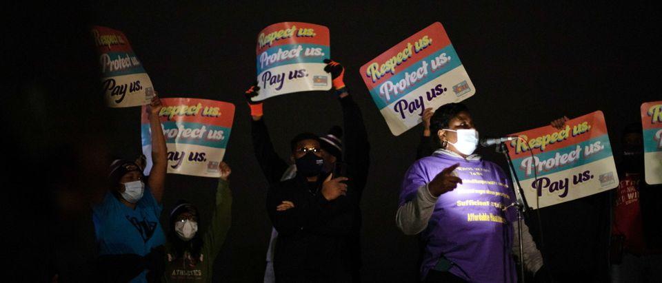 Staff at nursing homes strike on COVID-19 concerns