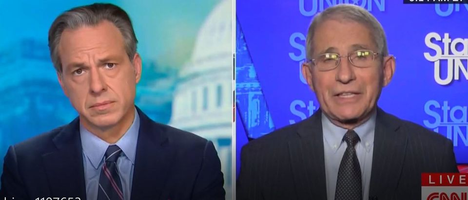 Anthony Fauci suggests masks, social distancing could continue after vaccine (CNN screengrab)