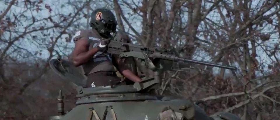 Army Uniforms (Credit: Screenshot/Twitter Video https://twitter.com/goarmywestpoint/status/1333199061177020417)
