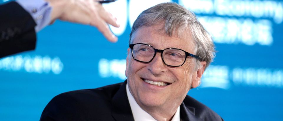 Bill Gates, Co-Chair of Bill & Melinda Gates Foundation, attends a conversation at the 2019 New Economy Forum in Beijing