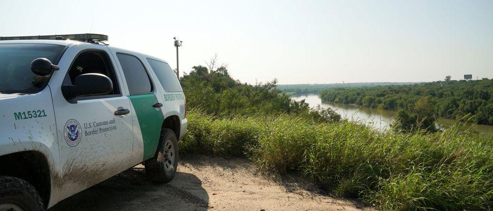 A Border Patrol vehicle is seen near the Rio Grande in Laredo, Texas