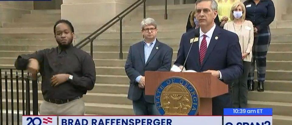 Georgia SoS Brad Raffensperger. (Screenshot/CSPAN)