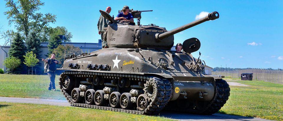 Selfridge ANG Base Museum M4A1E8 Sherman tank