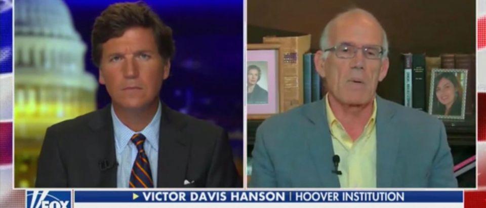 Tucker Carlson and Victor Davis Hanson