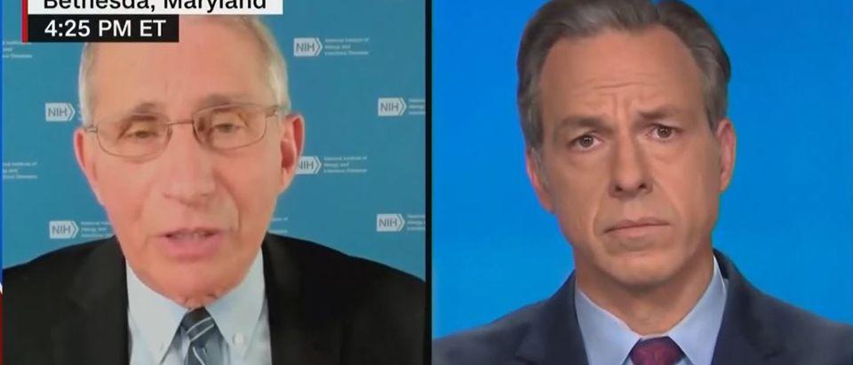 Fauci discusses vaccine availability (CNN screengrab)
