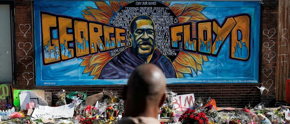 FILE PHOTO: A makeshift memorial honoring George Floyd in Minneapolis