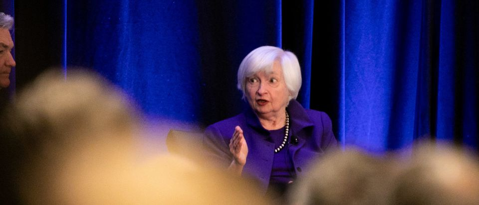 Federal Reserve Chair Jerome Powell, And Former Fed Chairs Bernanke And Yellen Speak At Economic Conference In Atlanta
