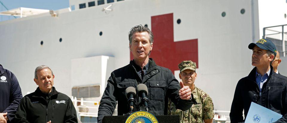 Newsom Speaking During Pandemic