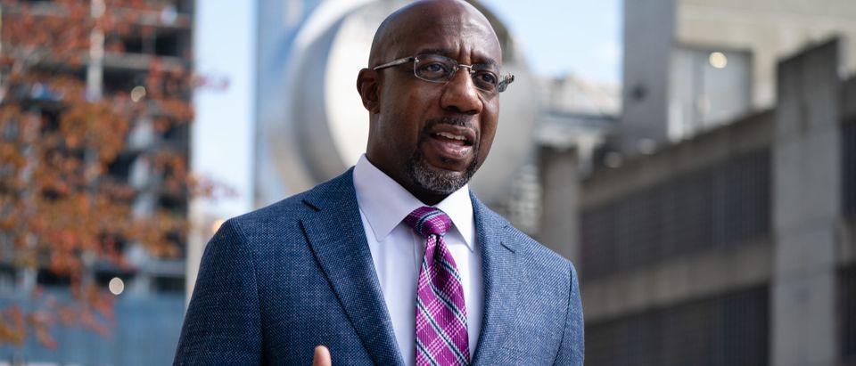 Democratic Senate Candidate Rev. Raphael Warnock Casts Early Vote In Atlanta