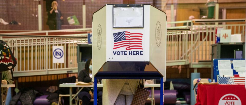 People Go To The Polls On Last Day Of Early Voting In New York