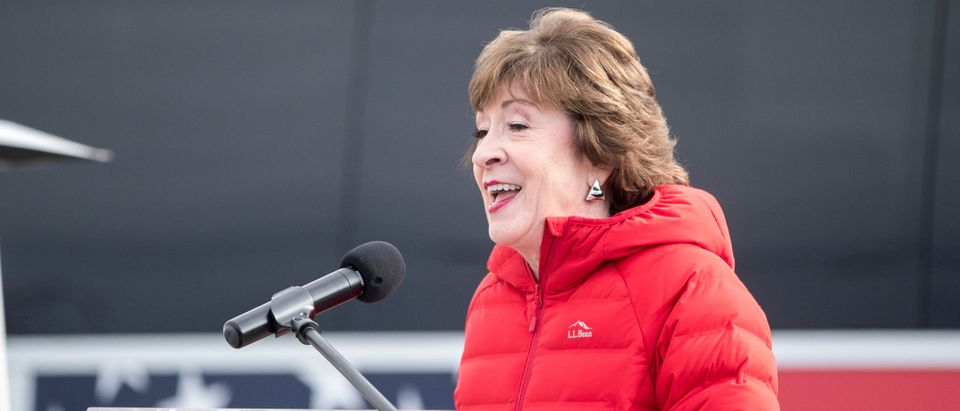 Maine Sen. Susan Collins Speaks To Supporters And Media Day After Election Day