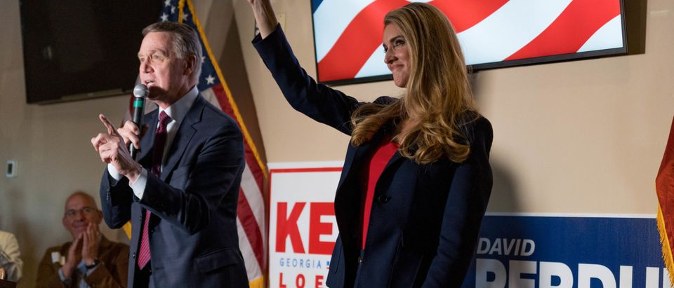 Republican Senators David Perdue And Kelly Loeffler Running For Reelection In A Closely Watched Run-Off Hold Rally