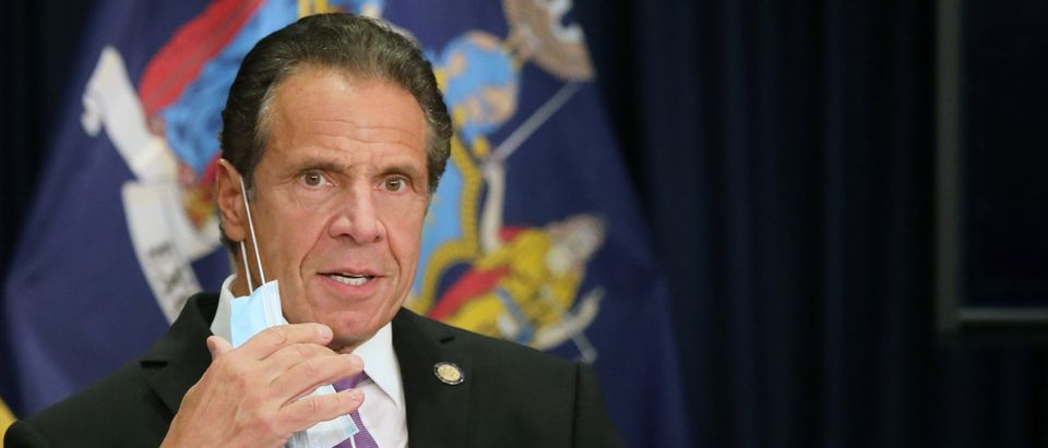 New York state Gov. Andrew Cuomo speaks at a news conference on September 08, 2020 in New York City. (Spencer Platt/Getty Images)