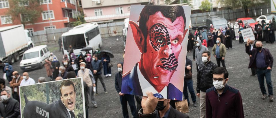 Protest Against French President Emmanuel Macron