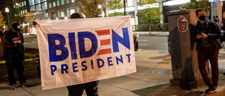 People React In Streets Of Washington, DC On Election Day