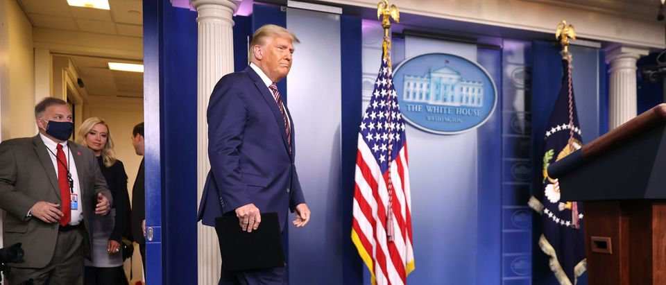 President Trump Speaks From The James S. Brady Briefing Room At The White House