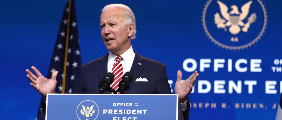 President-Elect Joe Biden Makes Address On Nation's Economy