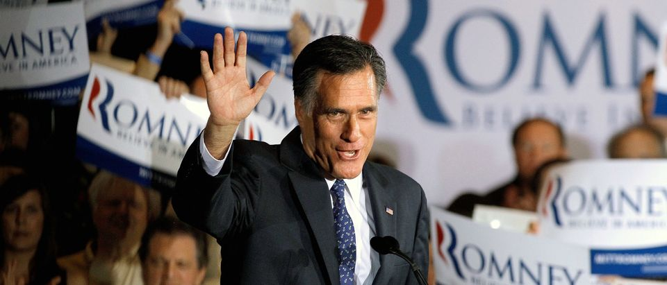 Romney Holds Illinois Primary Night Party In Chicago