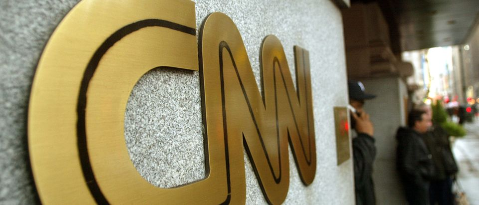 The CNN sign is seen outside its headquarters November 12, 2002 in New York City. (Mario Tama/Getty Images)