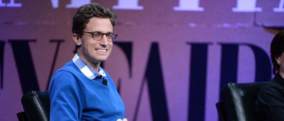 """Buzzfeed CEO Jonah Peretti speaks onstage during """"Missing Ink: The New Journalism at the Vanity Fair New Establishment Summit at Yerba Buena Center for the Arts on October 8, 2014 in San Francisco, California. (Michael Kovac/Getty Images for Vanity Fair)"""