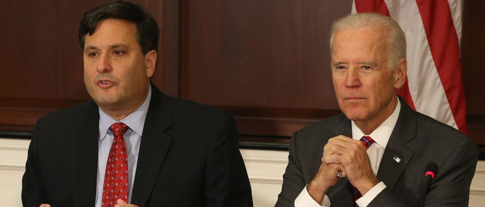 Joe Biden And Ebola Response Coordinator Ron Klain Meet With Aid Groups