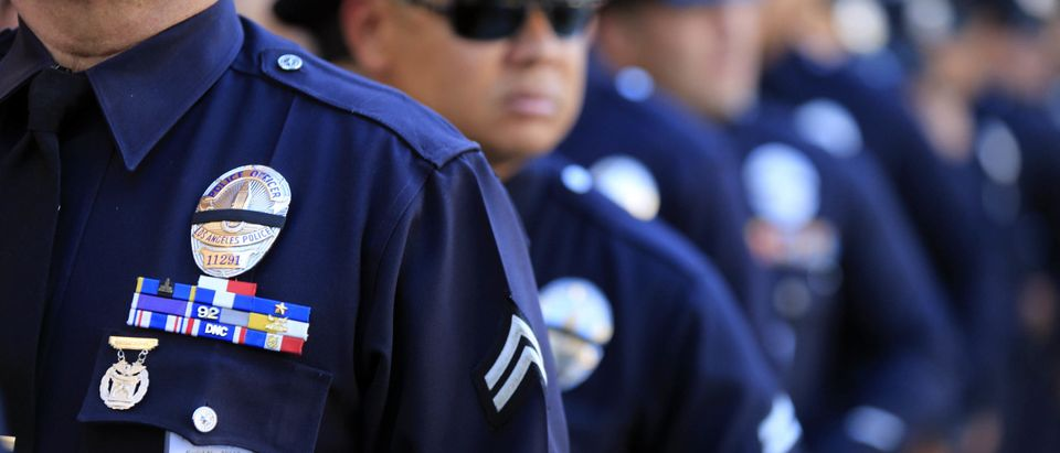Memorial Service Held For LAPD Officer Roberto Sanchez