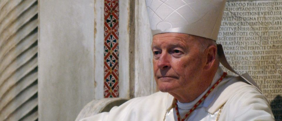 U.S. Cardinal Theodore McCarrick Holds Mass