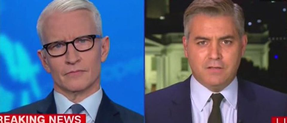 Jim Acosta takes dig at Trump (CNN screengrab)