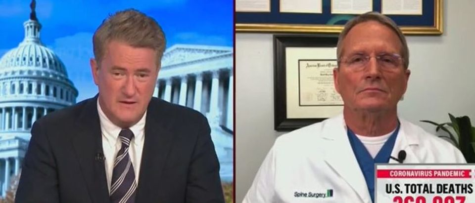 Joe Scarborough praises Trump for vaccine (MSNBC screengrab)