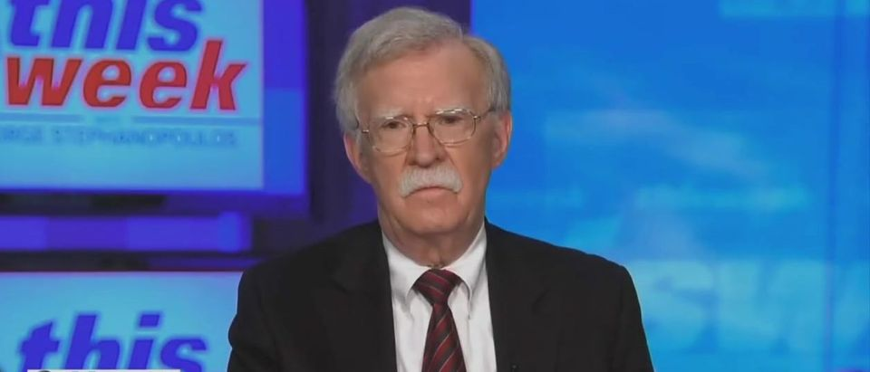 John Bolton disputes election fraud claims (ABC screengrab)