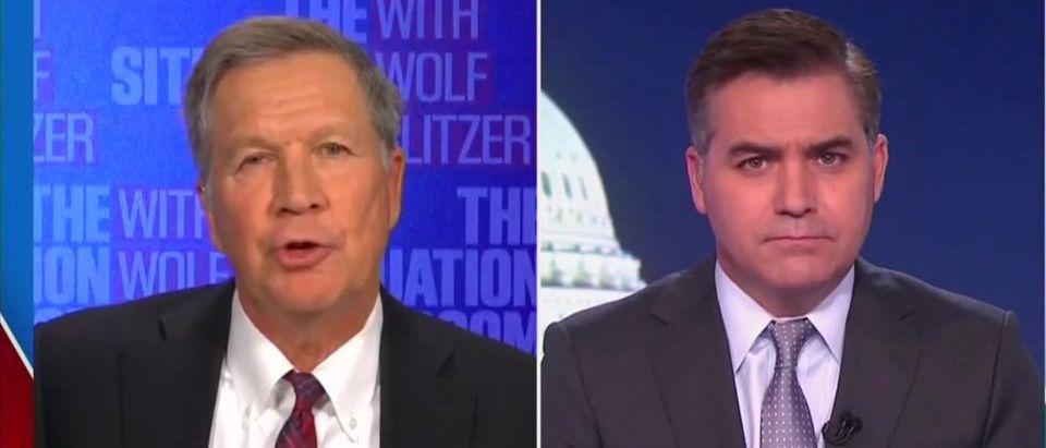 John Kasich dismisses Flynn pardon (CNN screengrab)