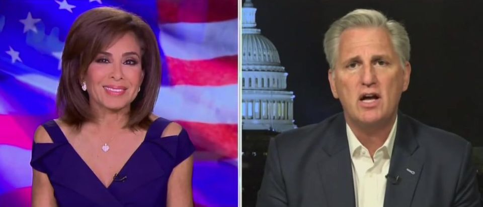 Kevin McCarthy talks about Democratic infighting (Fox News screengrab)