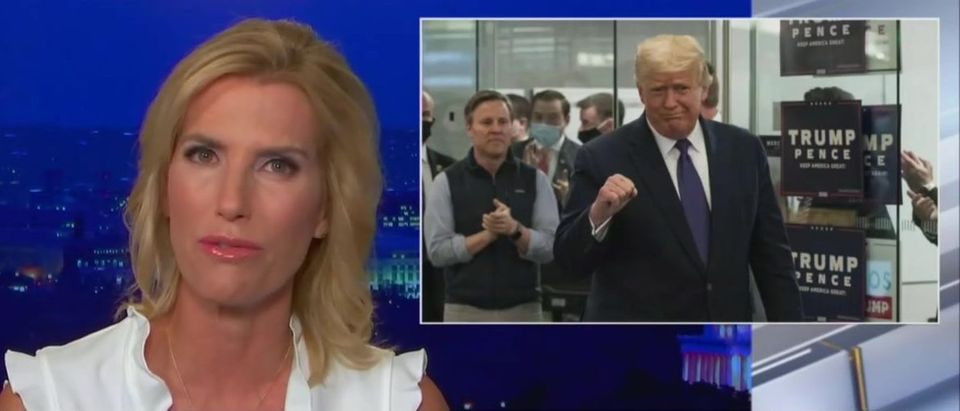 Laura Ingraham says Trump should accept results with grace (Fox News screengrab)
