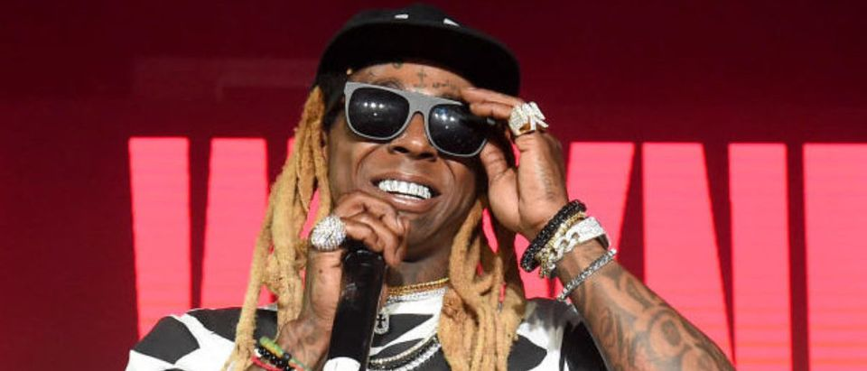 "MIAMI, FL - DECEMBER 09: Lil Wayne performs onstage during BACARDI, Swizz Beatz and The Dean Collection bring NO COMMISSION back to Miami to celebrate ""Island Might"" at Soho Studios on December 9, 2017 in Miami, Florida. (Photo by Nicholas Hunt/Getty Images for BACARDI)"