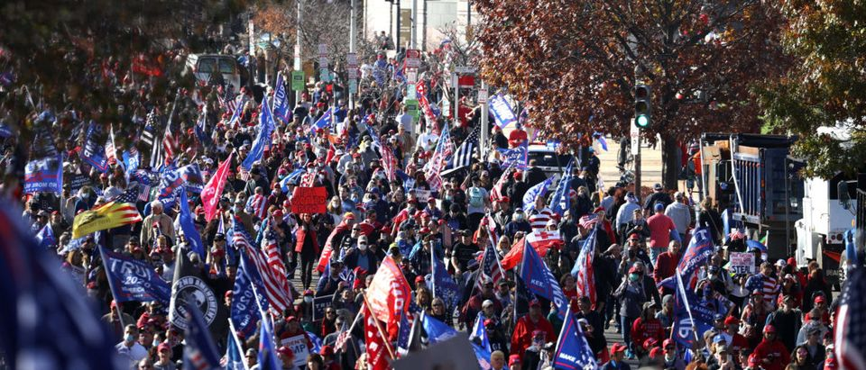 """Pro-Trump Right Wing Groups Hold """"Million MAGA March"""" To Protest Election Results"""