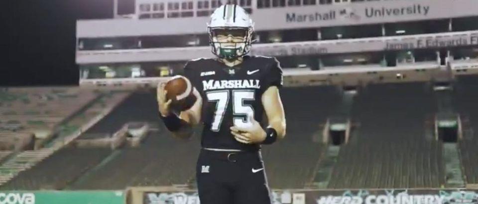 Marshall (Credit: Screenshot/Twitter Video https://twitter.com/HerdFB/status/1327030918519906305)