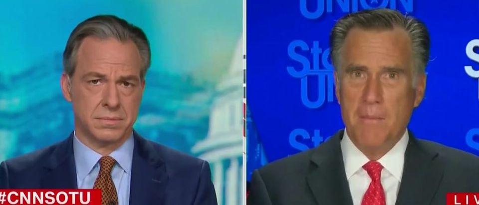 Mitt Romney talks about Trump accepting defeat (CNN screengrab)