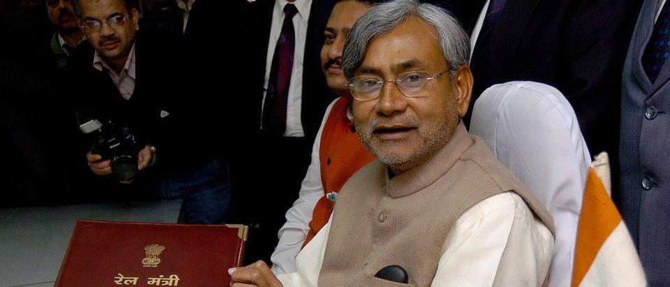 India's Railways Minister Nitish Kumar (