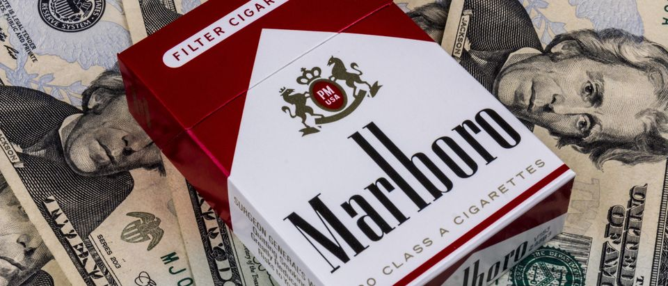 Pack of Marlboro Cigarettes by Jonathan Weiss. By Shutterstock.