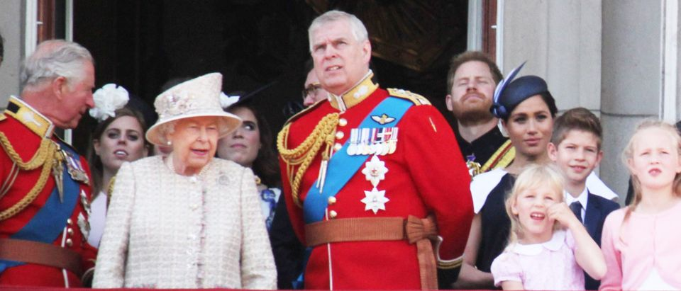 Queen Elizabeth and Prince Andrew, London. Lorna Roberts. Shutterstock.