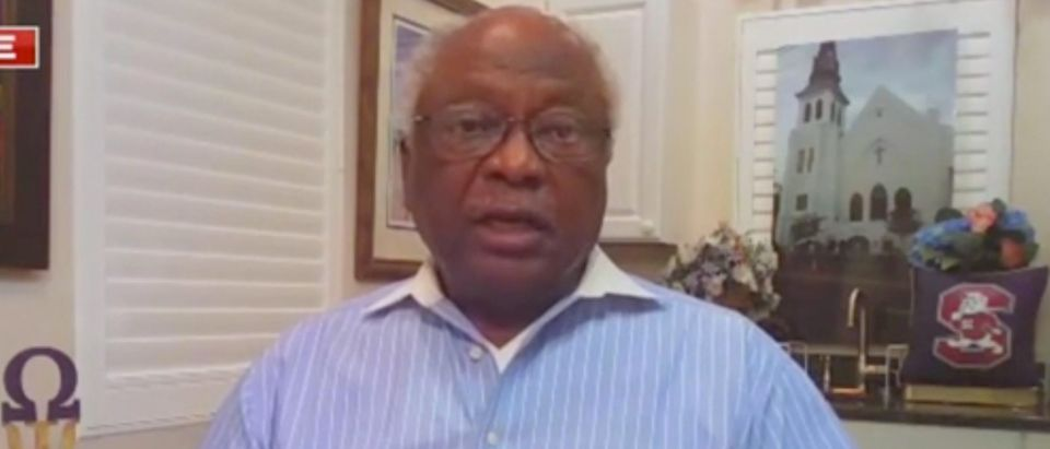 James Clyburn appears on Fox News Channel to discuss the 2020 election. Screenshot/Fox News