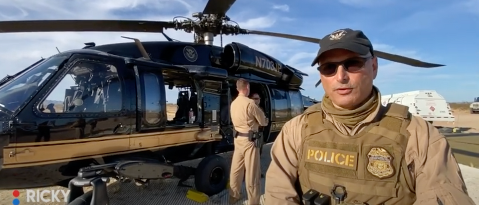 Air Marine Agent and Blackhawk Pilot Ricky talks to the Daily Caller about his duties. (Screenshot/Youtube The Daily Caller)