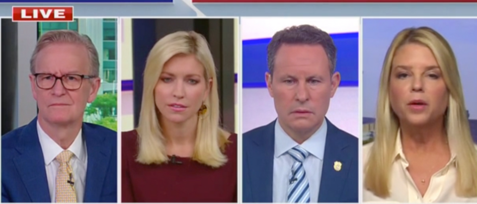 Pam Bondi alleged that there are fake ballots in PA. (Screenshot Fox & Friends, Fox News Channel)