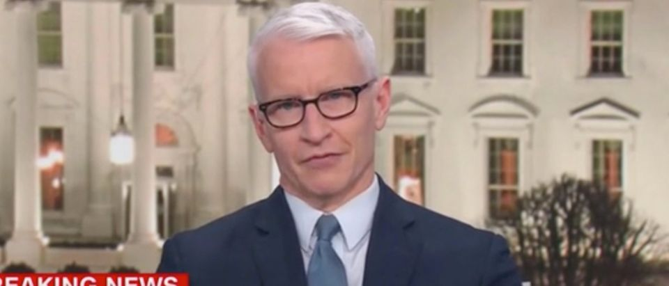 Anderson Cooper gives election coverage updates. Screenshot/CNN