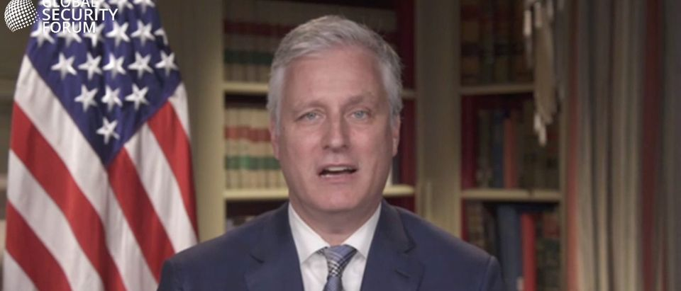 Robert O'Brien (screenshot, Global Security Forum)