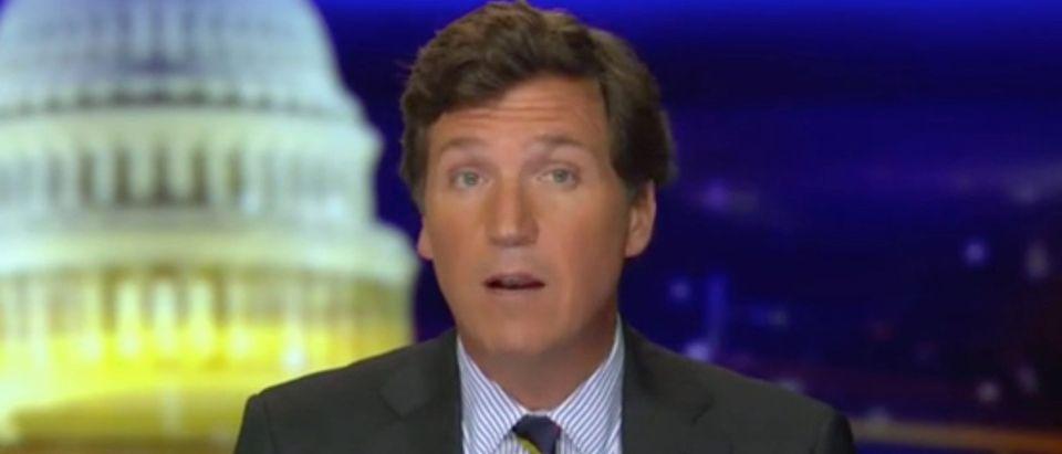 """Tucker Carlson hosts """"Tucker Carlson Tonight."""" Screenshot/Fox News"""