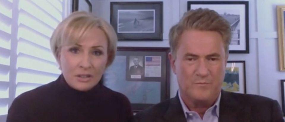 "Mika Brzezinski and Joe Scarborough appear on ""The View."" Screenshot/ABC"
