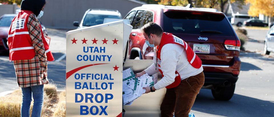 Utah Officials Pick Up Ballots From Dropboxes