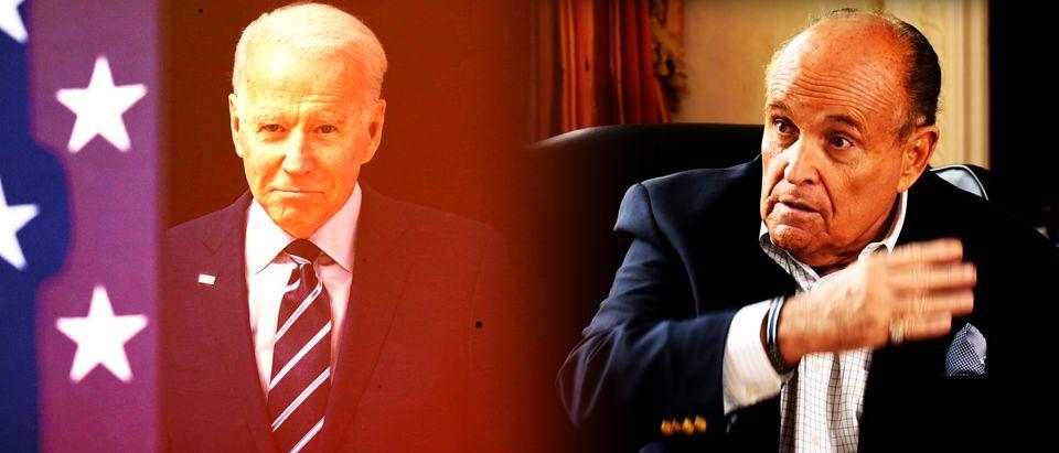 Joe Biden, Rudy Giuliani (Getty Images, Daily Caller)