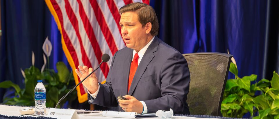 Ron DeSantis speaking in Florida
